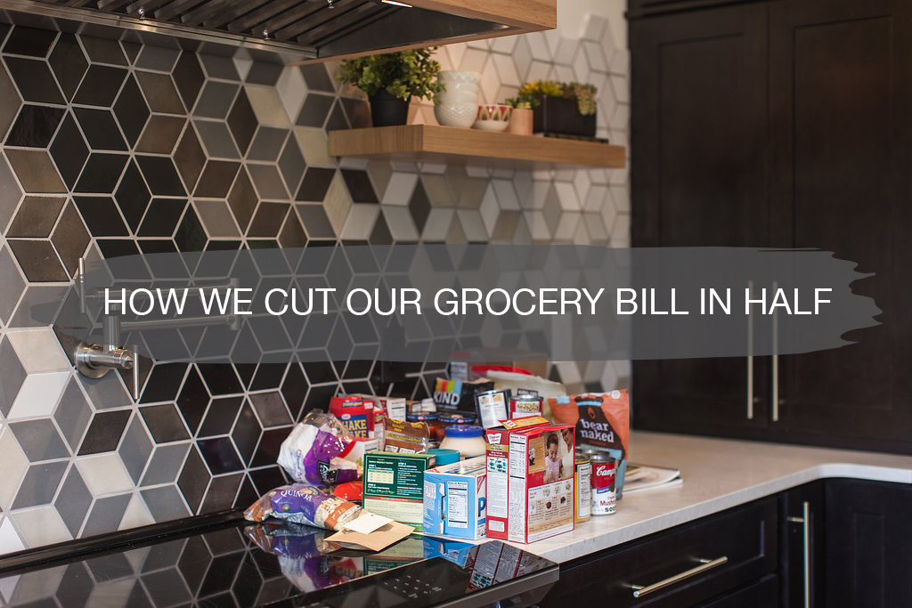 how we cut our grocery bill in half | construction2style