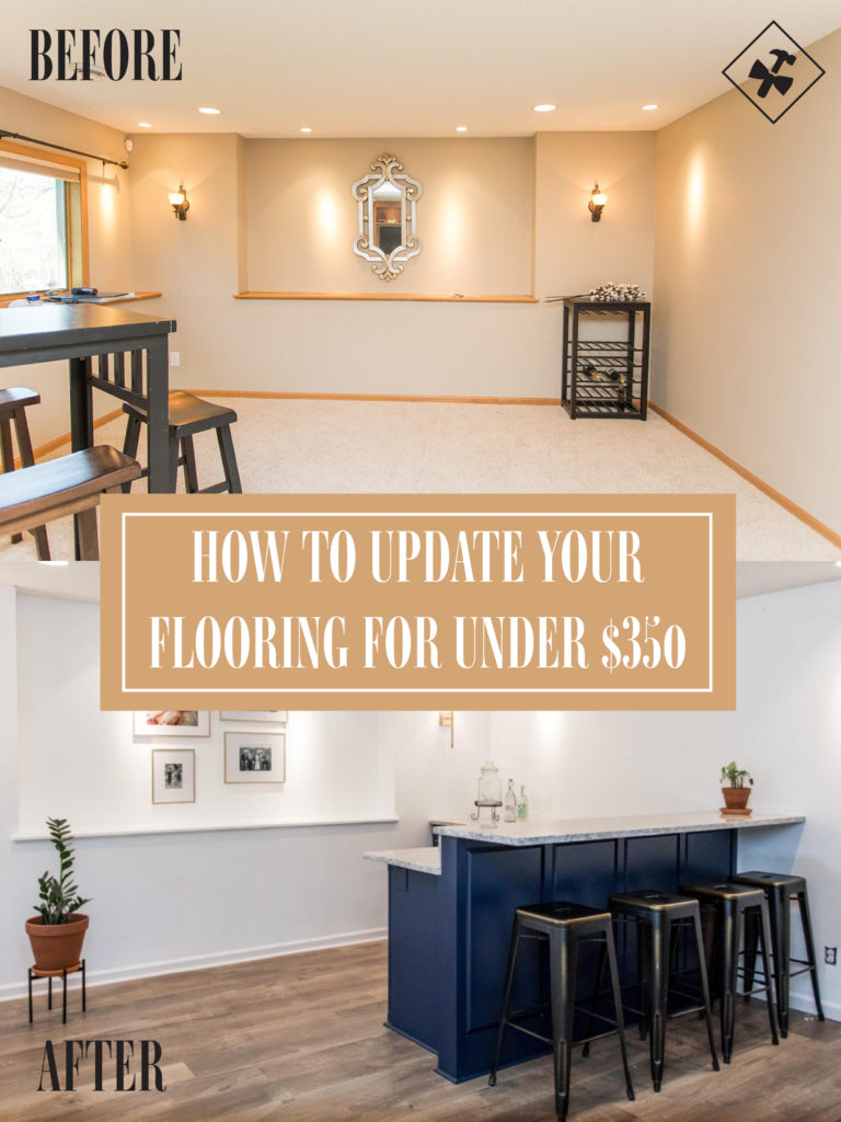 how to update your flooring for under $350 | before and after | construction2style