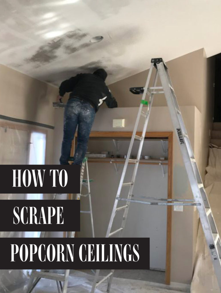 How to Scape Popcorn Ceilings | construction2style