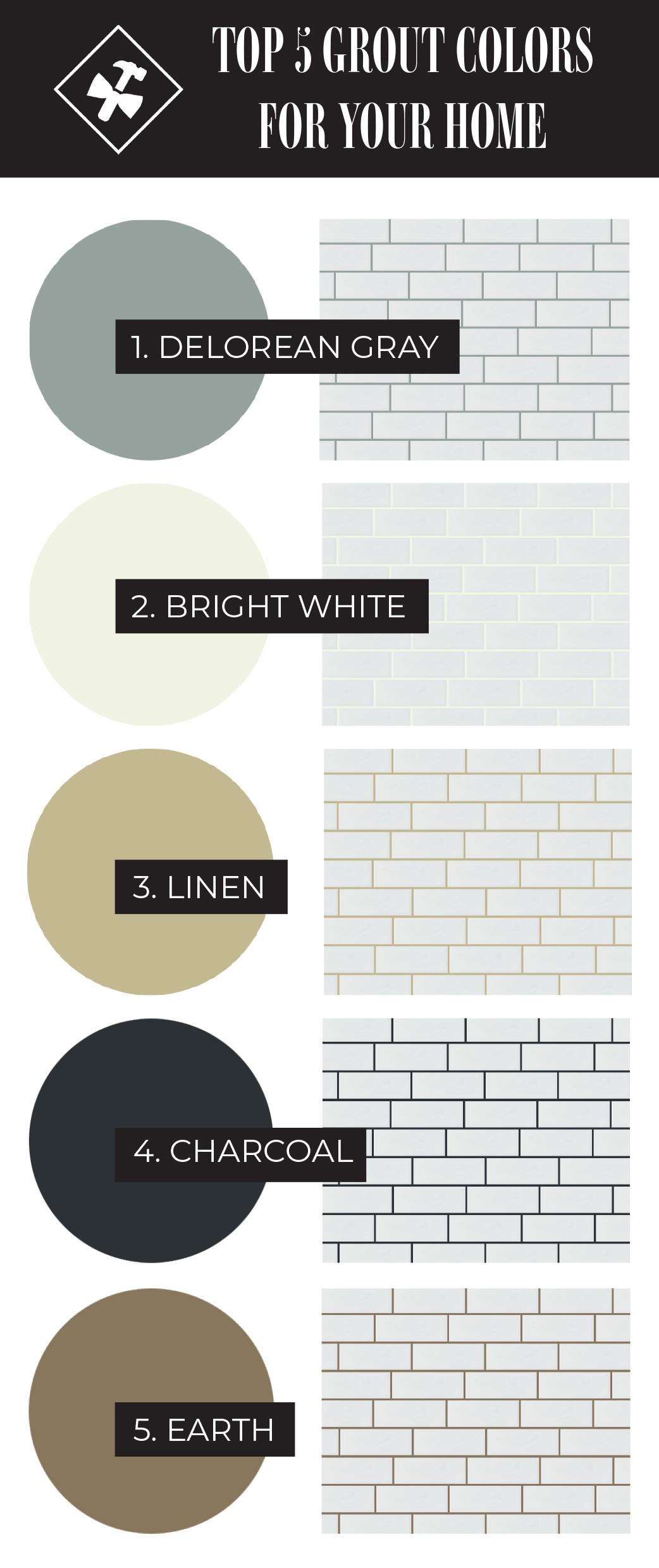 Top 5 Grout Colors For Your Home | construction2style