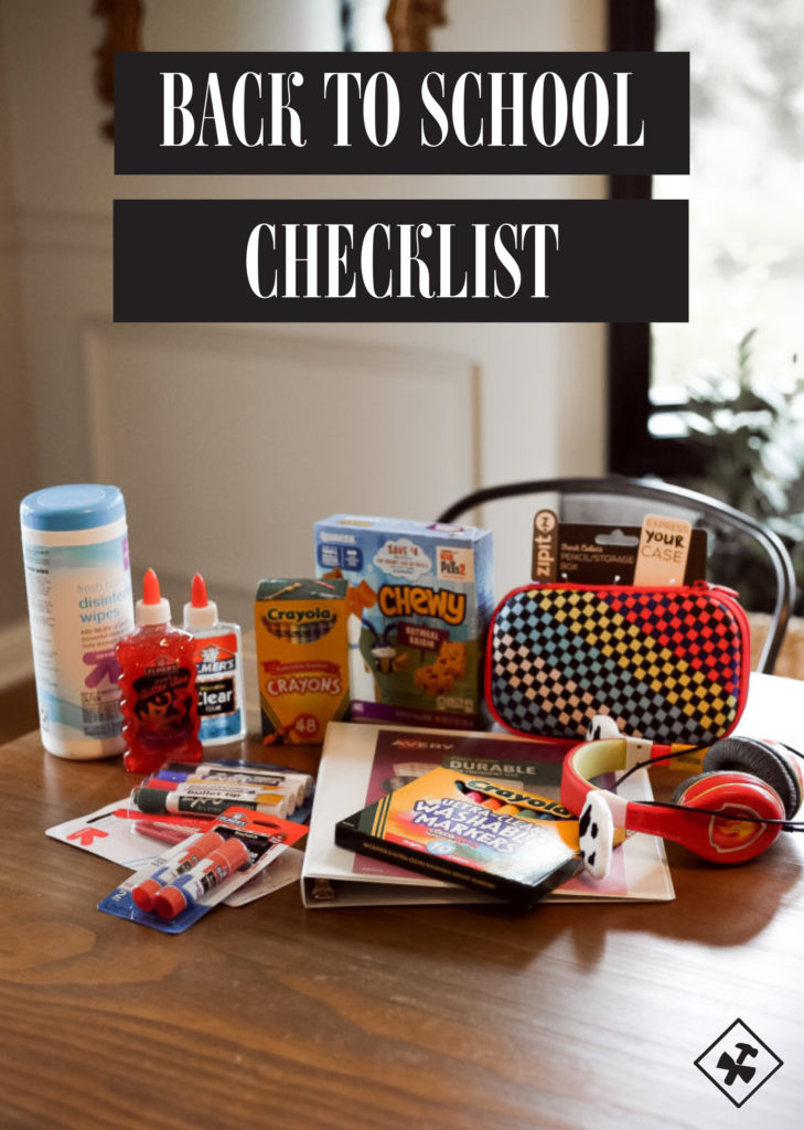 Back to School Checklist | construction2style
