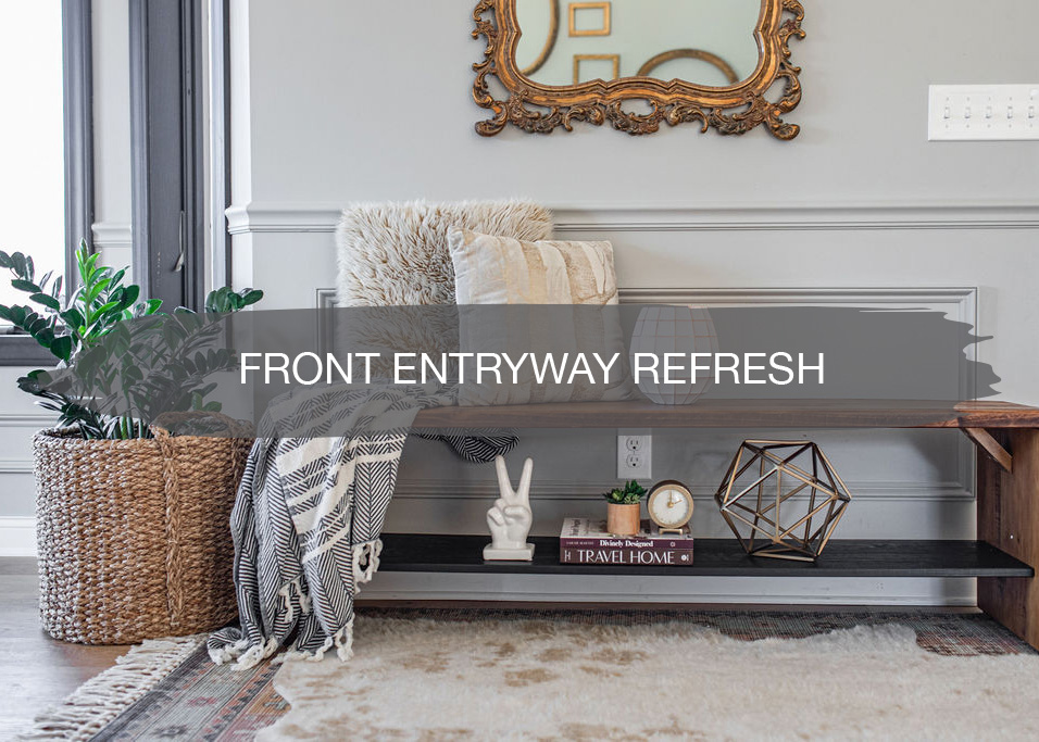 Front Entryway Refresh for under $200 | construction2style