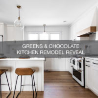 Greens & Chocolate Kitchen Remodel Reveal