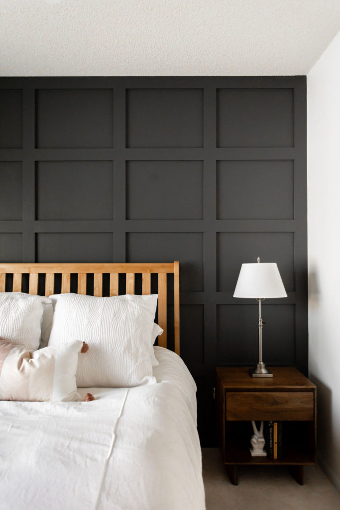 board and batten accent wall in master bedroom / construction2style