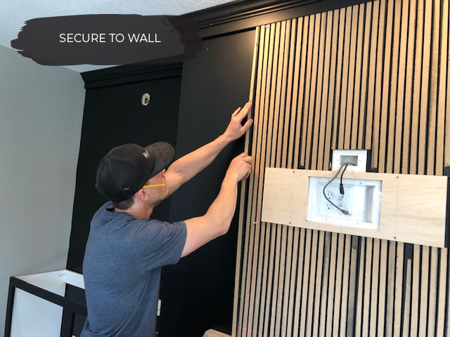 How to DIY a Vertical Wood Slat Wall