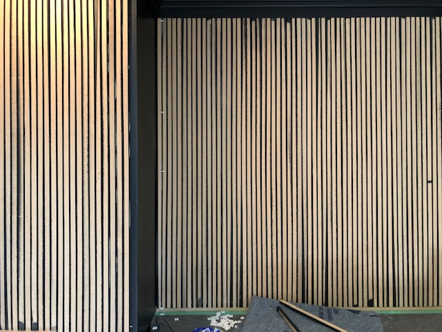 How to DIY a Vertical Wood Slat Wall 8