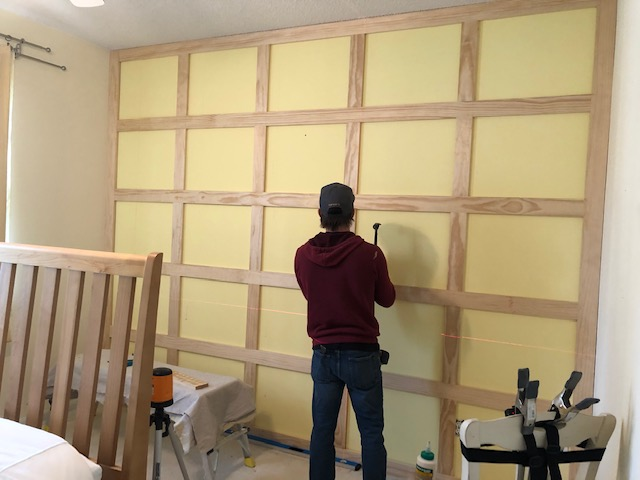 How to DIY a Shaker Panel Accent Wall 9