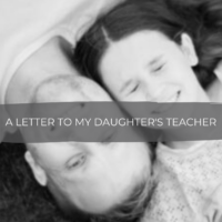 Dear Teacher... A letter to my Daughter's Teacher from a Fellow Inmate
